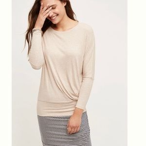 Anthropologie Pasar Pullover Top; Taupe Size Small